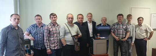Специалисты предприятий на курсе повышения квалификации ООО «Вактрон»