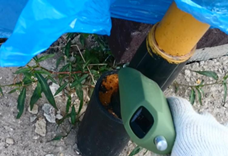 Контроль герметичности газовых труб портативным течеискателем
